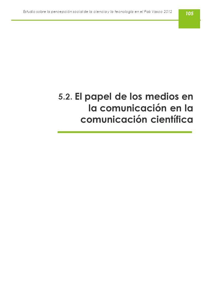 105 5.2. El papel de los medios en la comunicación en la comunicación científica