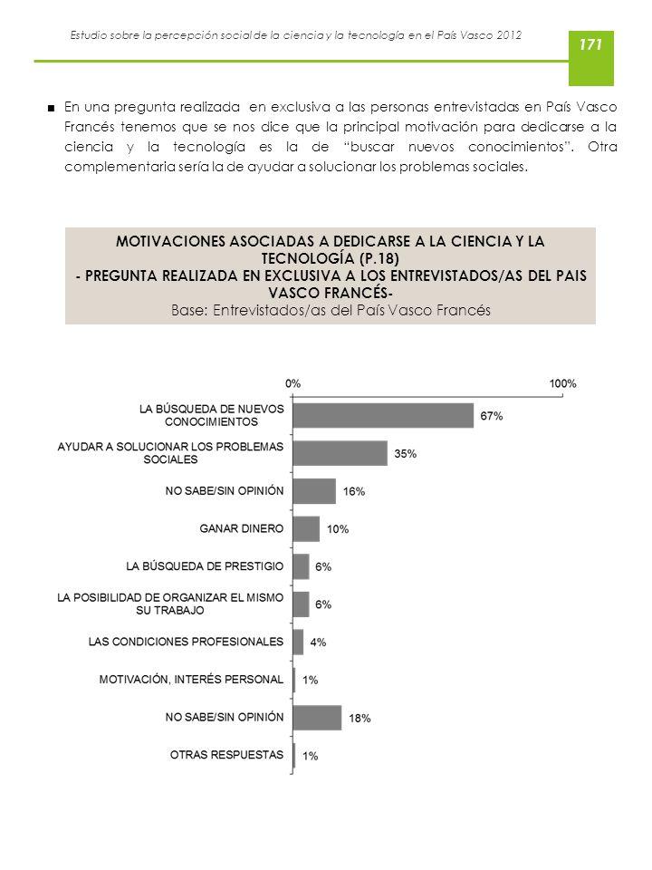 MOTIVACIONES ASOCIADAS A DEDICARSE A LA CIENCIA Y LA TECNOLOGÍA (P.18)