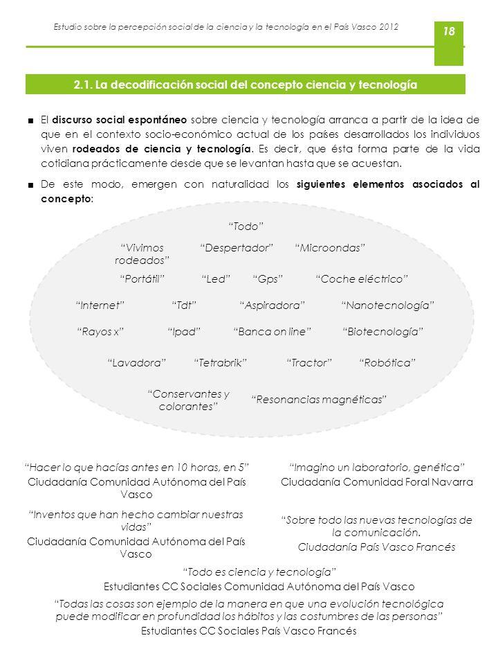 2.1. La decodificación social del concepto ciencia y tecnología