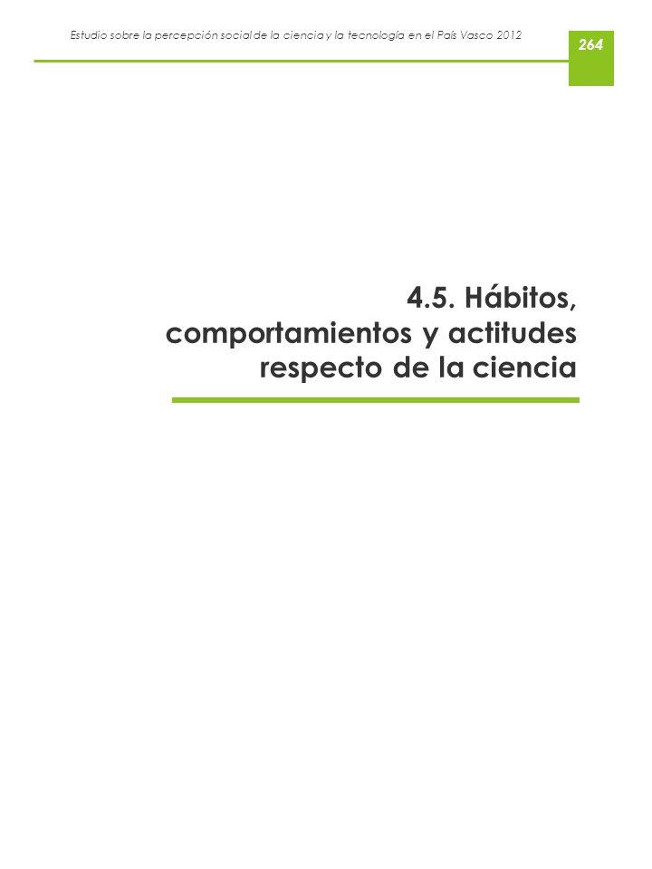 4.5. Hábitos, comportamientos y actitudes respecto de la ciencia