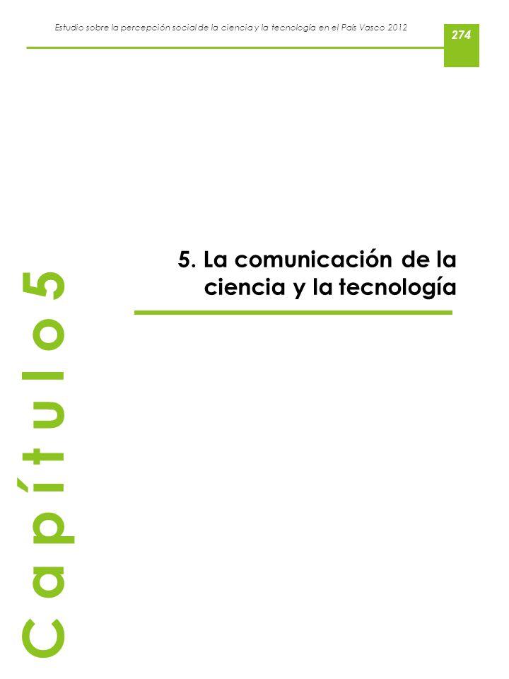 5. La comunicación de la ciencia y la tecnología
