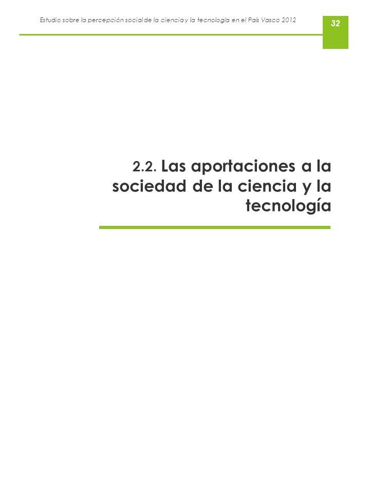 2.2. Las aportaciones a la sociedad de la ciencia y la tecnología