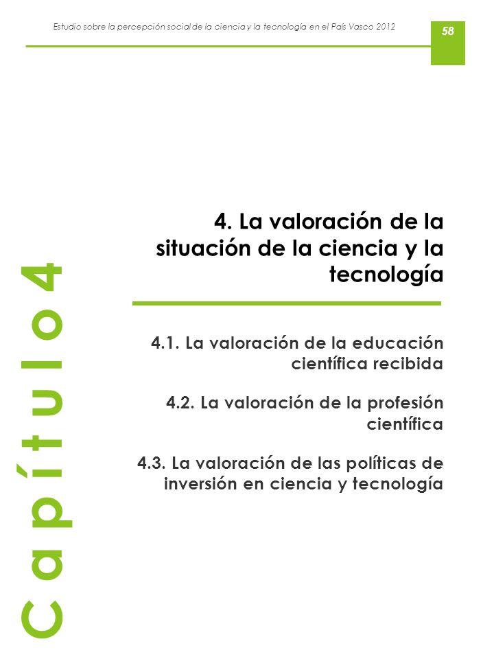 4. La valoración de la situación de la ciencia y la tecnología