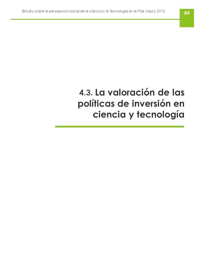 4.3. La valoración de las políticas de inversión en ciencia y tecnología