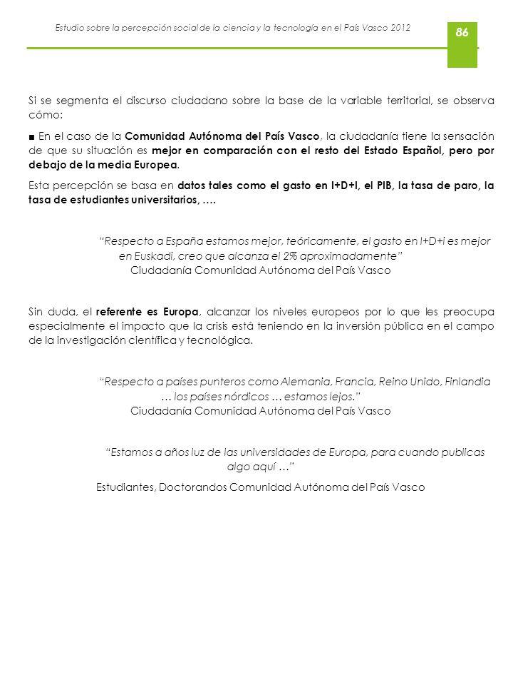 Estudiantes, Doctorandos Comunidad Autónoma del País Vasco