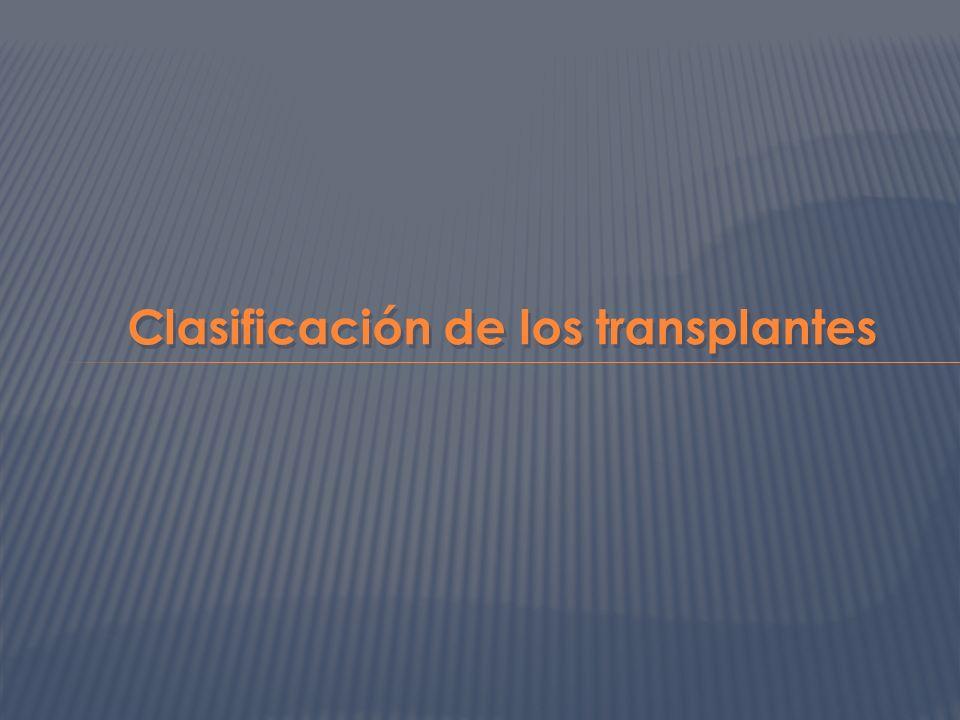 Clasificación de los transplantes