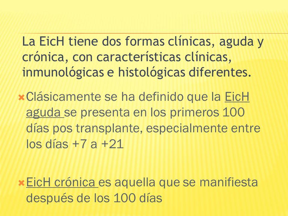 EicH crónica es aquella que se manifiesta después de los 100 días
