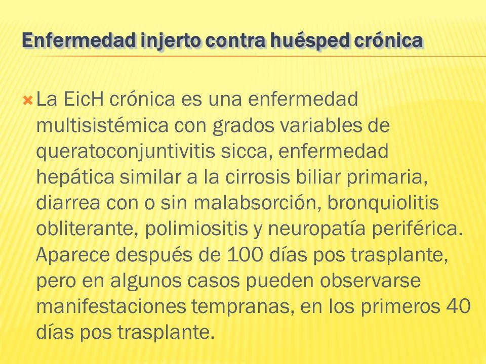Enfermedad injerto contra huésped crónica