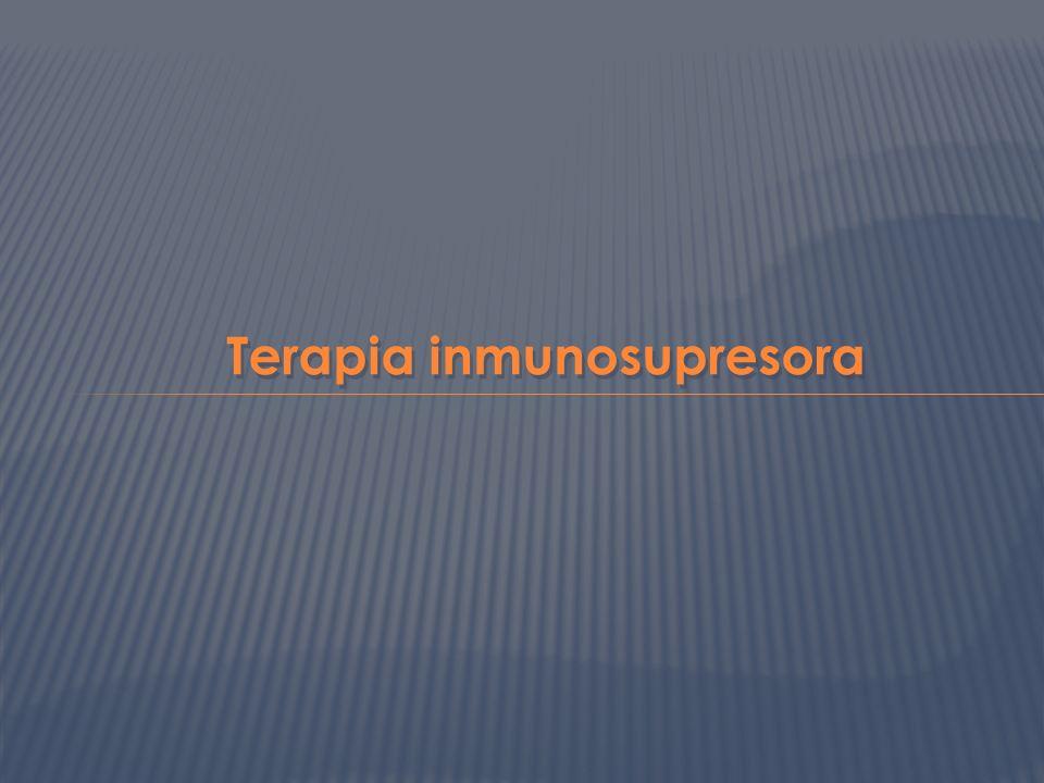 Terapia inmunosupresora
