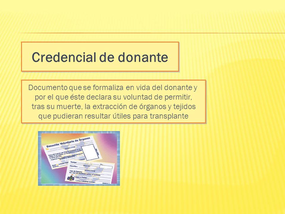 Credencial de donante