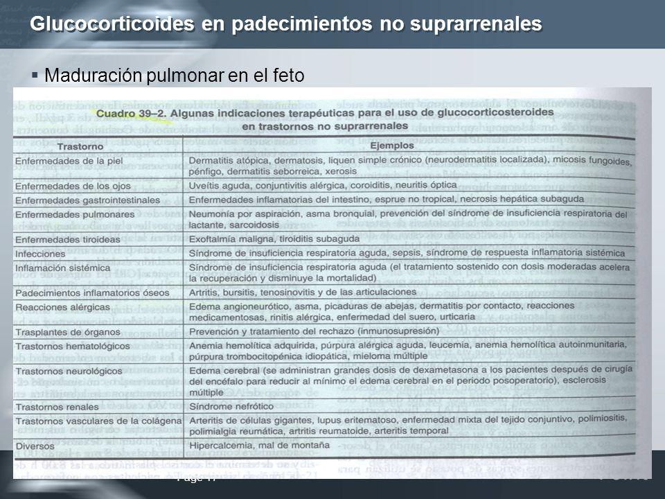 Glucocorticoides en padecimientos no suprarrenales