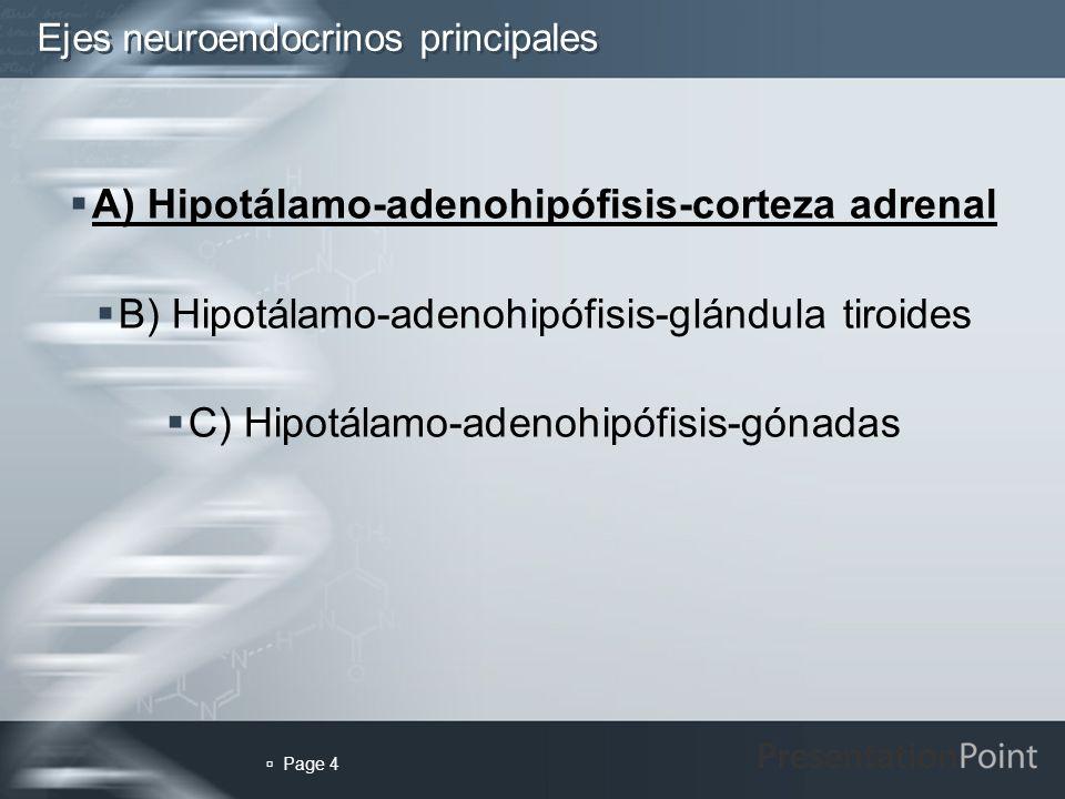 Ejes neuroendocrinos principales