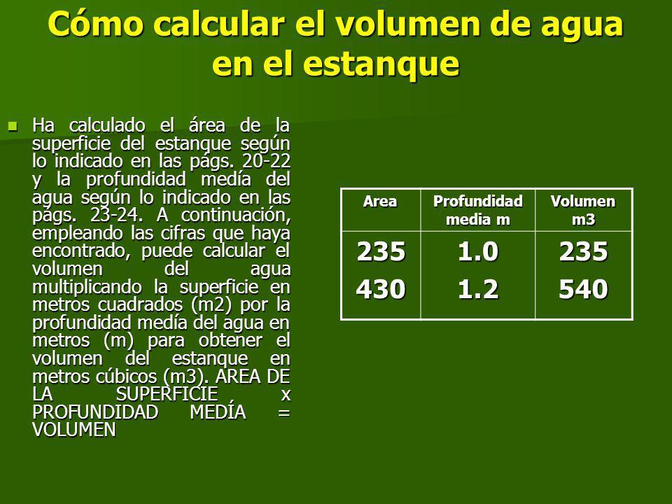 Cómo calcular el volumen de agua en el estanque