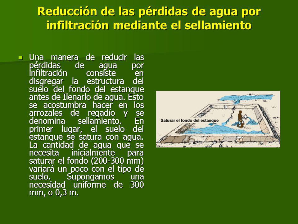Reducción de las pérdidas de agua por infiltración mediante el sellamiento