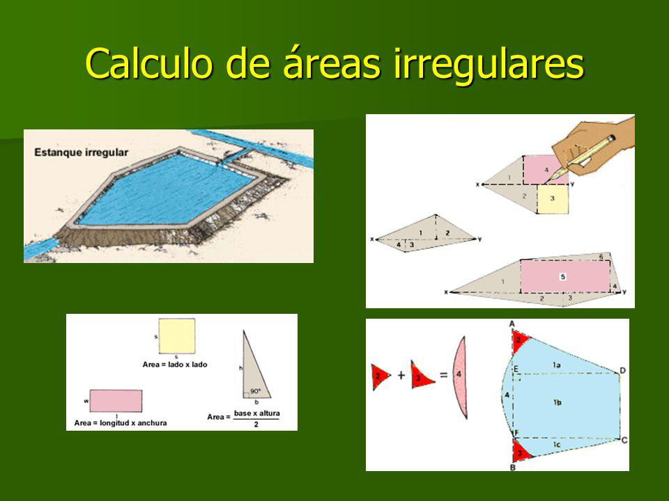 Calculo de áreas irregulares