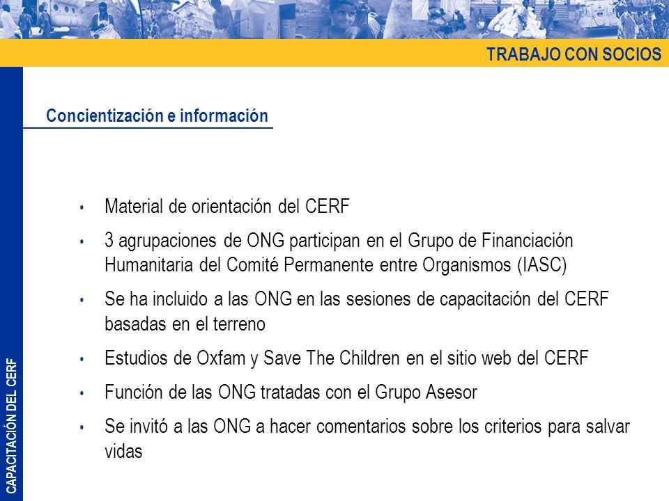 Material de orientación del CERF