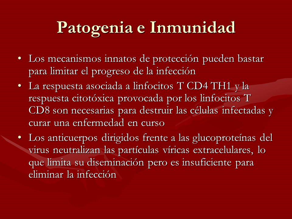 Patogenia e Inmunidad Los mecanismos innatos de protección pueden bastar para limitar el progreso de la infección.