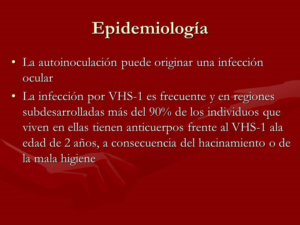 Epidemiología La autoinoculación puede originar una infección ocular