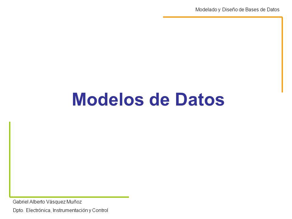 Modelos de Datos Modelado y Diseño de Bases de Datos