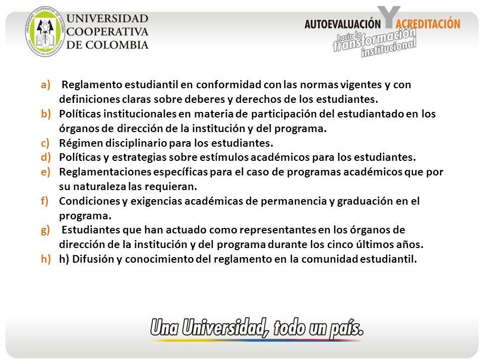 Reglamento estudiantil en conformidad con las normas vigentes y con definiciones claras sobre deberes y derechos de los estudiantes.