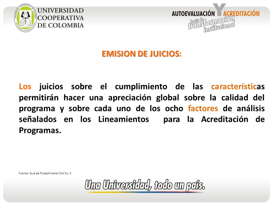 EMISION DE JUICIOS: