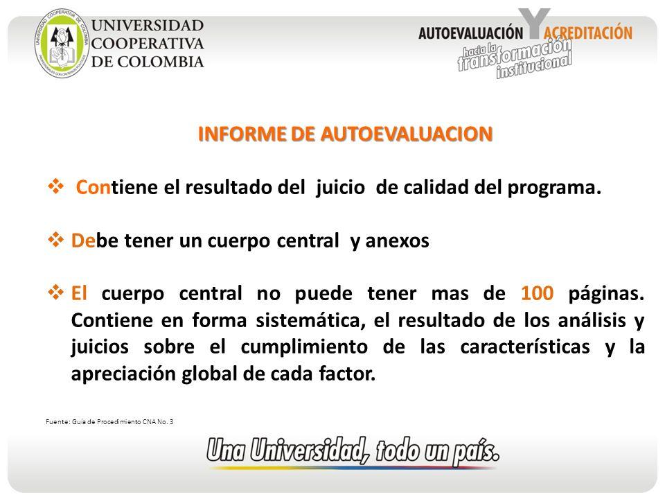 INFORME DE AUTOEVALUACION