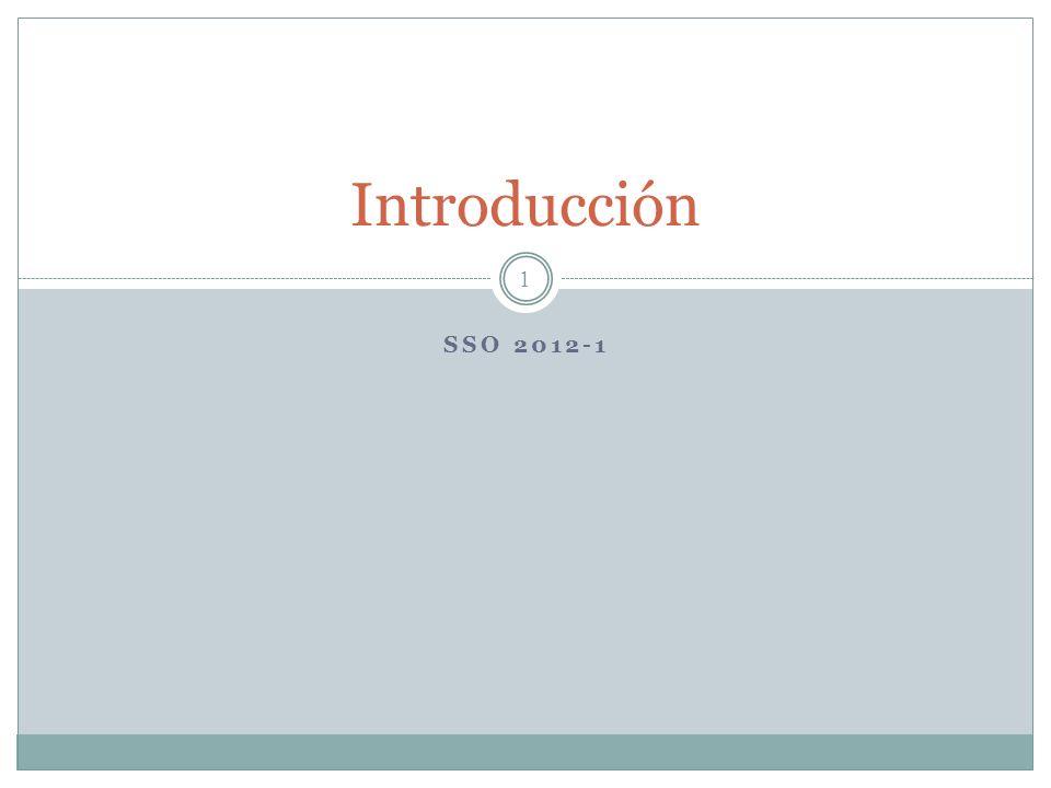 Introducción SSO 2012-1