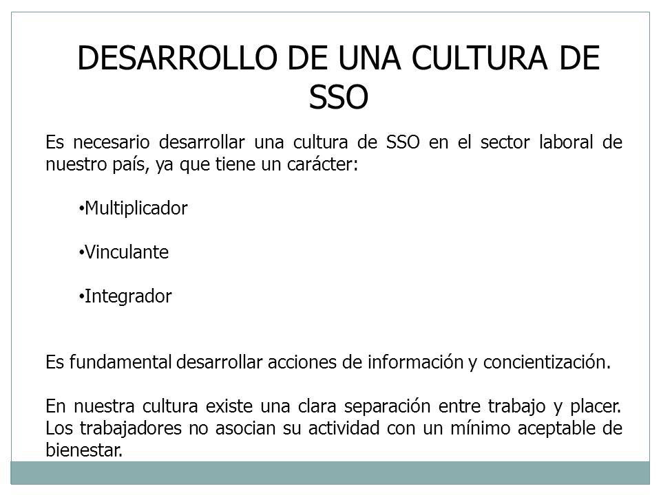 DESARROLLO DE UNA CULTURA DE SSO