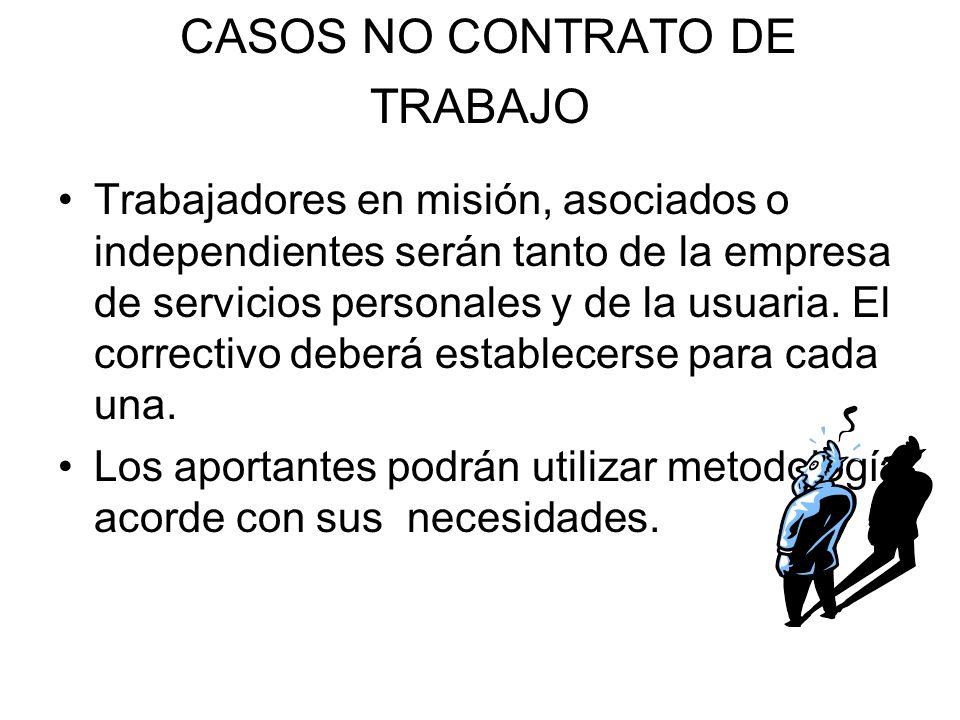 CASOS NO CONTRATO DE TRABAJO