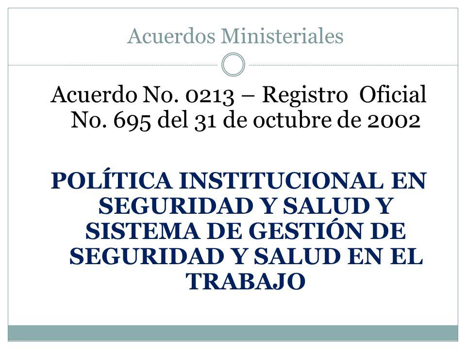 Acuerdos Ministeriales