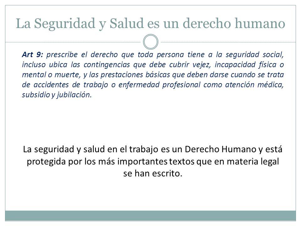La Seguridad y Salud es un derecho humano