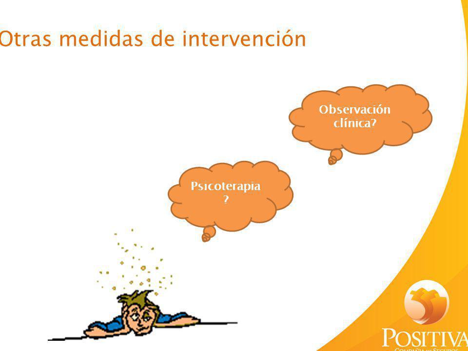 Otras medidas de intervención
