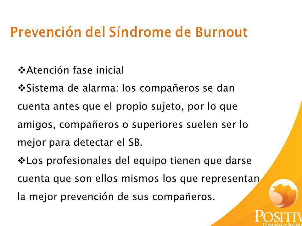 Prevención del Síndrome de Burnout