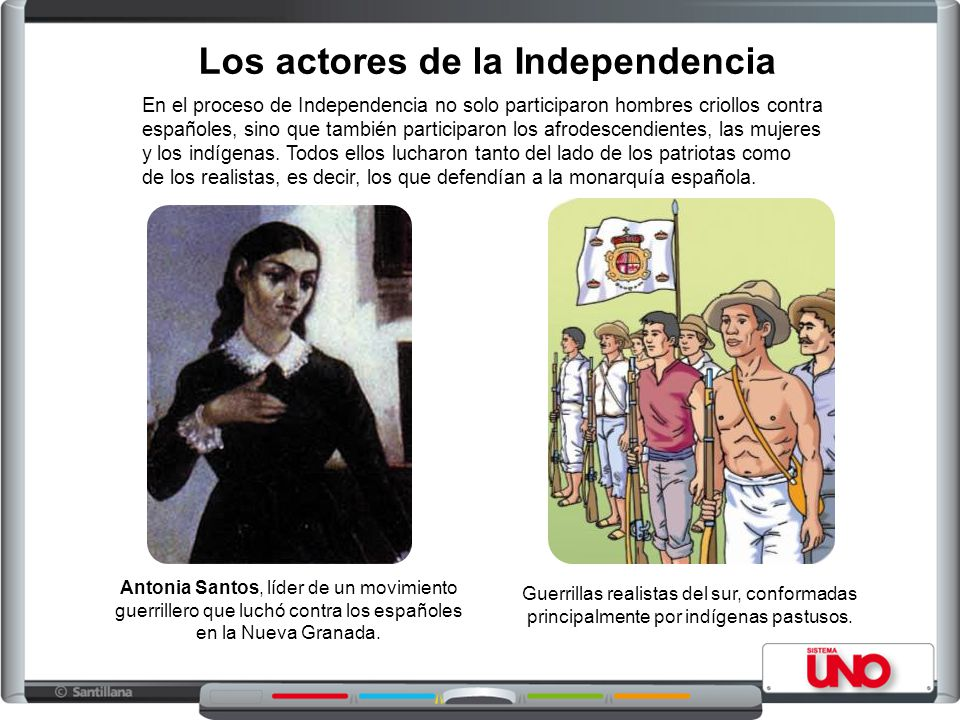 Los actores de la Independencia