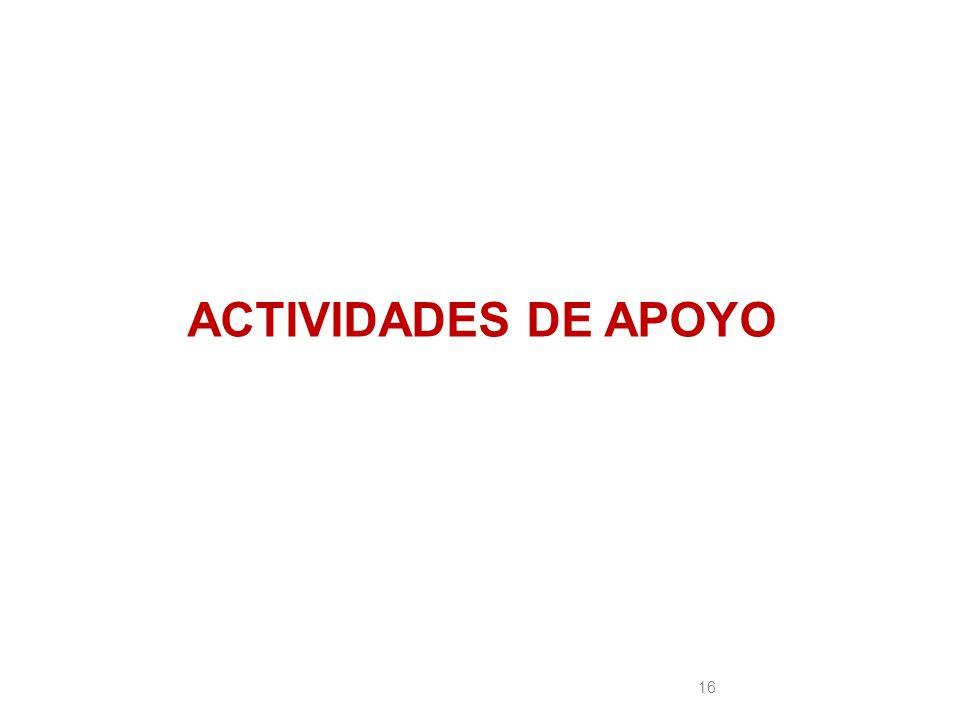ACTIVIDADES DE APOYO