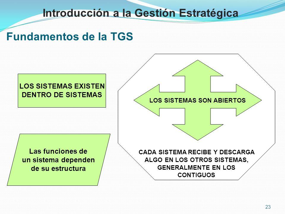 Introducción a la Gestión Estratégica Fundamentos de la TGS