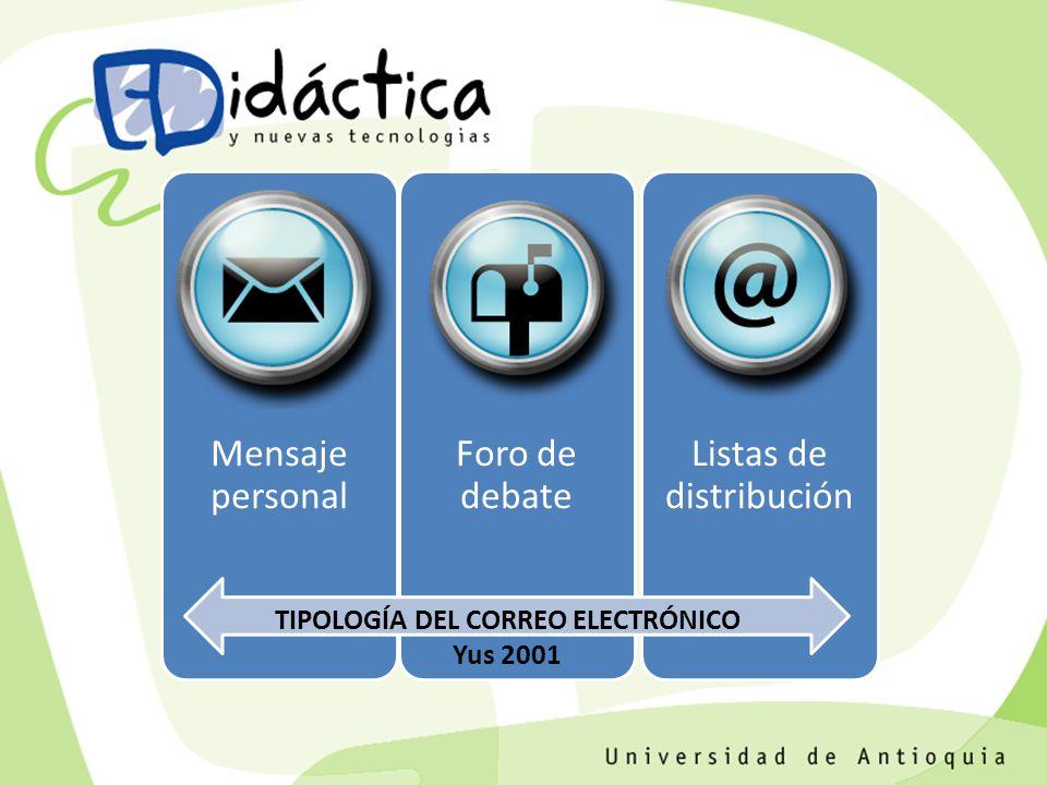 TIPOLOGÍA DEL CORREO ELECTRÓNICO Yus 2001