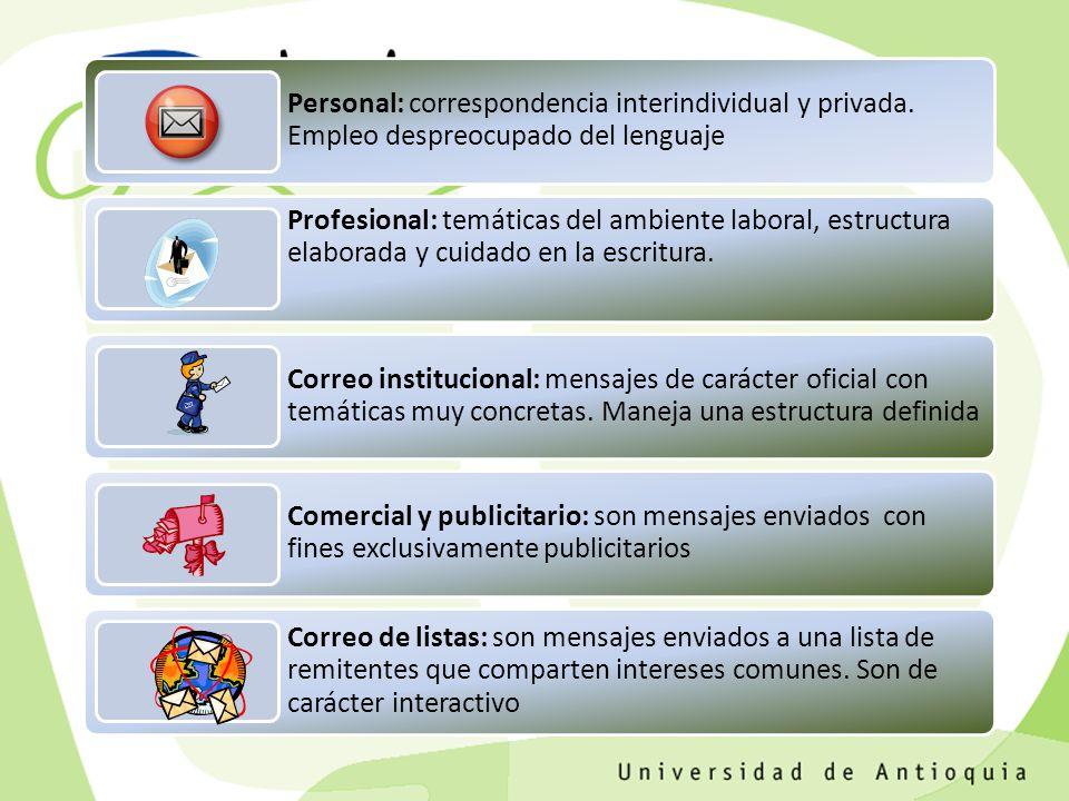 Personal: correspondencia interindividual y privada