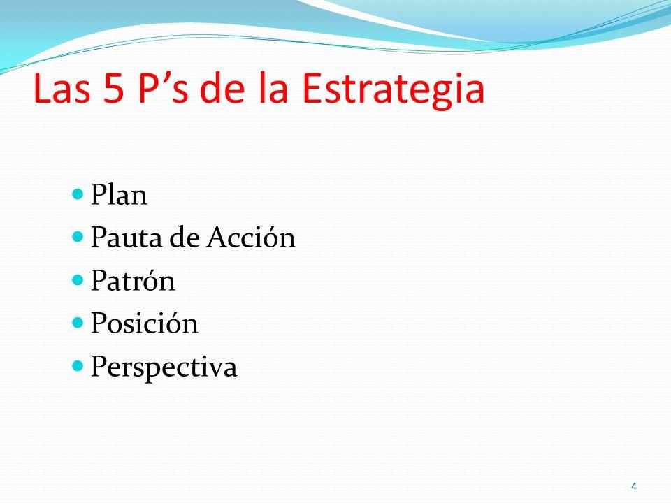 Las 5 P's de la Estrategia