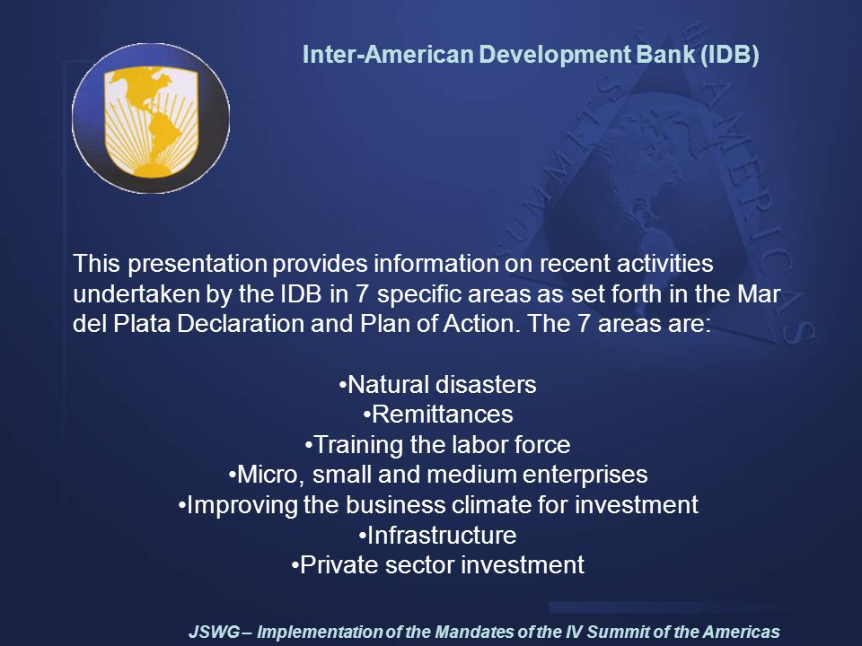 Inter-American Development Bank (IDB)