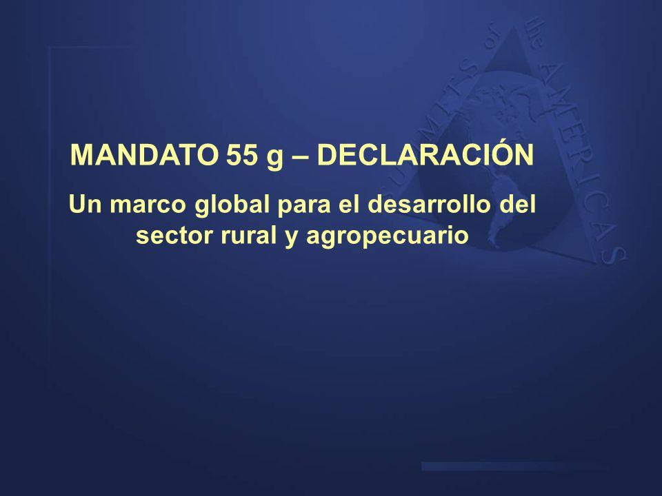 MANDATO 55 g – DECLARACIÓN