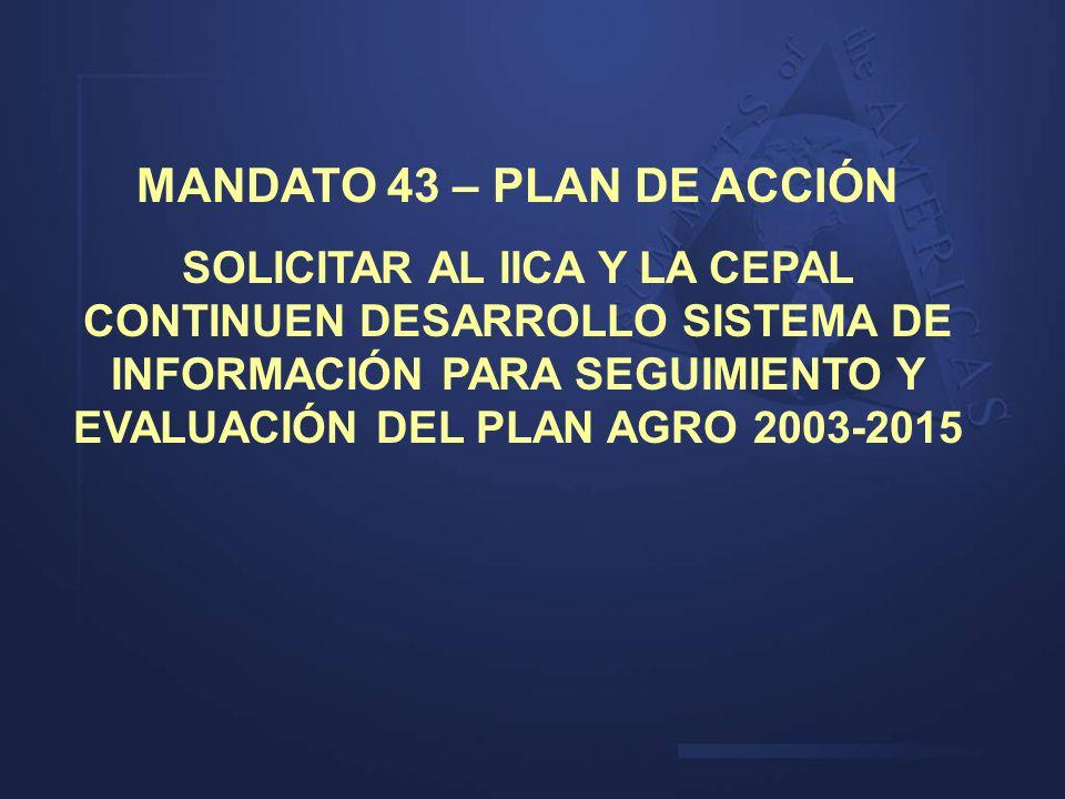 MANDATO 43 – PLAN DE ACCIÓN