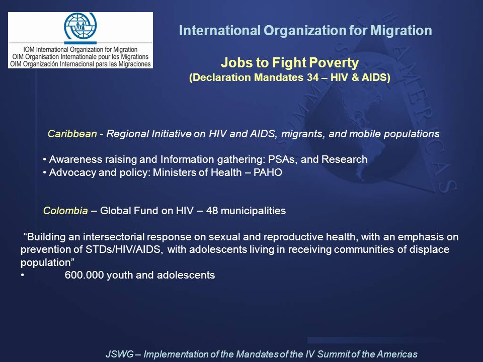 International Organization for Migration Jobs to Fight Poverty