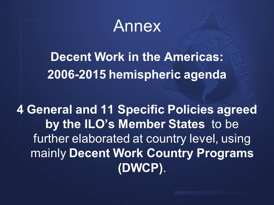 Decent Work in the Americas: