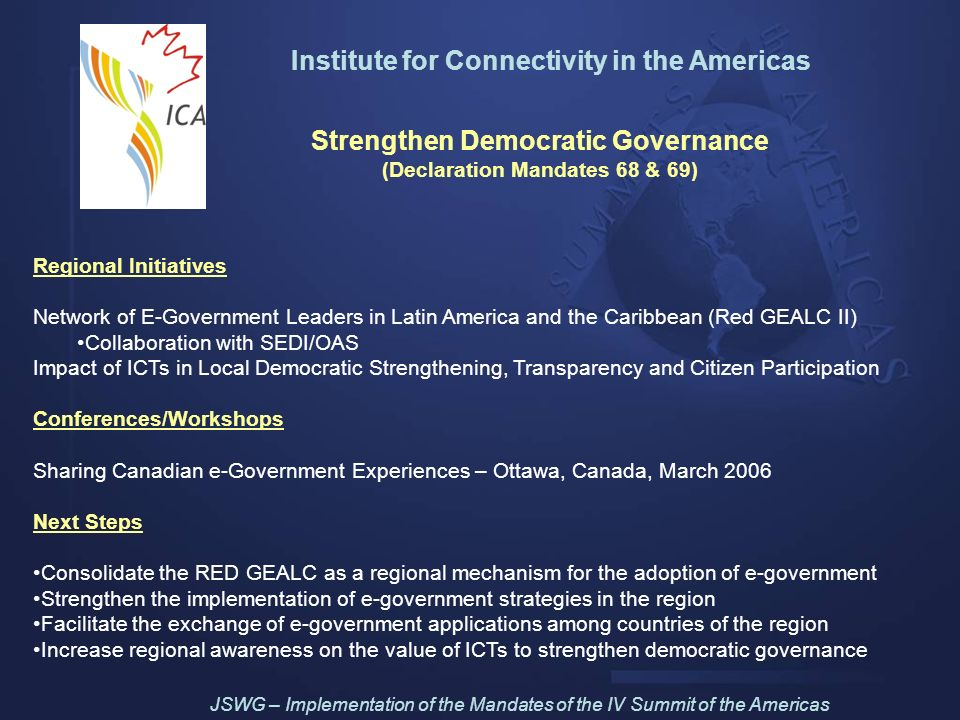 Institute for Connectivity in the Americas