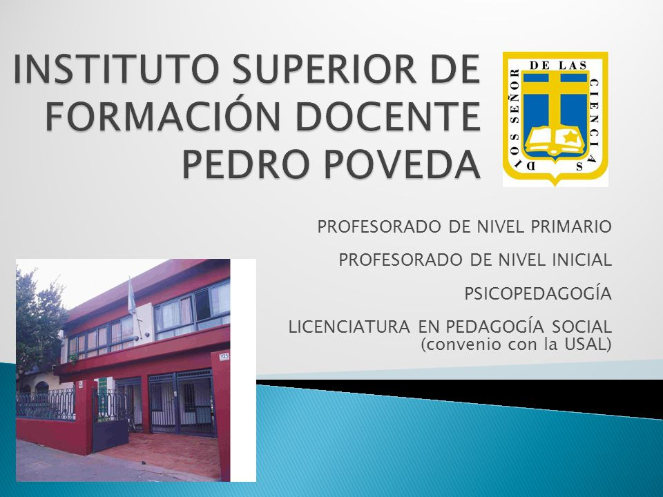 INSTITUTO SUPERIOR DE FORMACIÓN DOCENTE PEDRO POVEDA