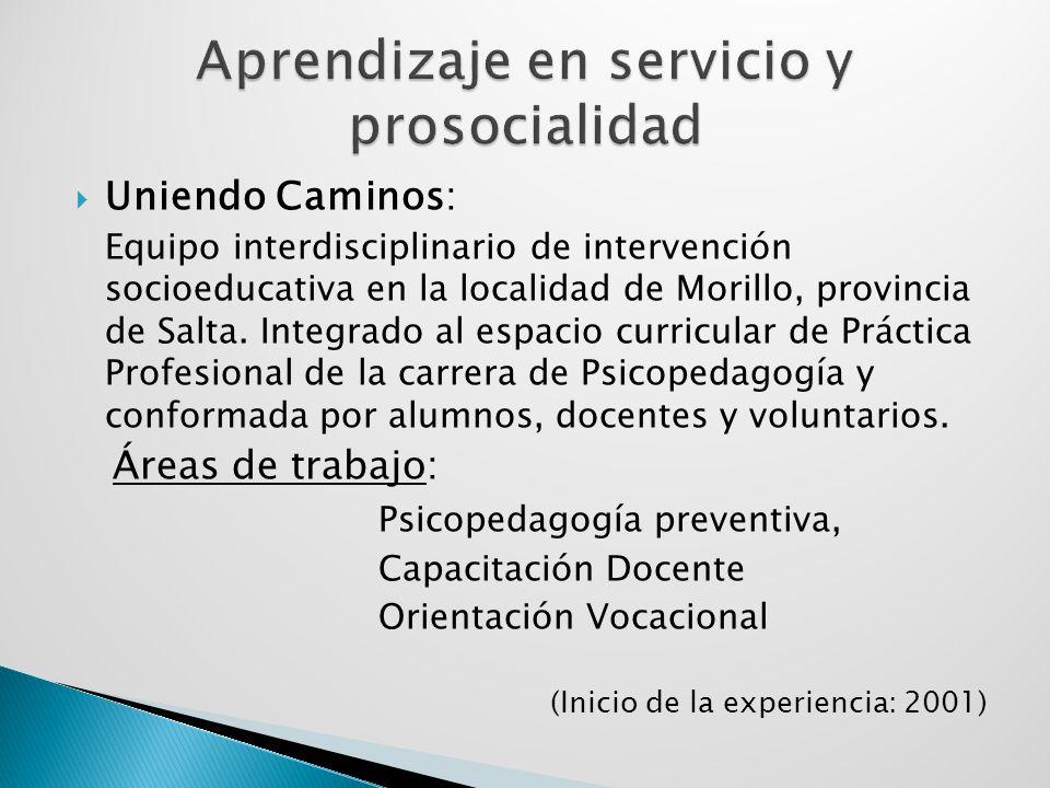 Aprendizaje en servicio y prosocialidad