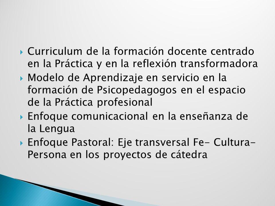 Curriculum de la formación docente centrado en la Práctica y en la reflexión transformadora