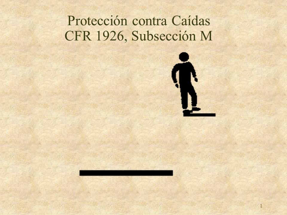 Protección contra Caídas CFR 1926, Subsección M