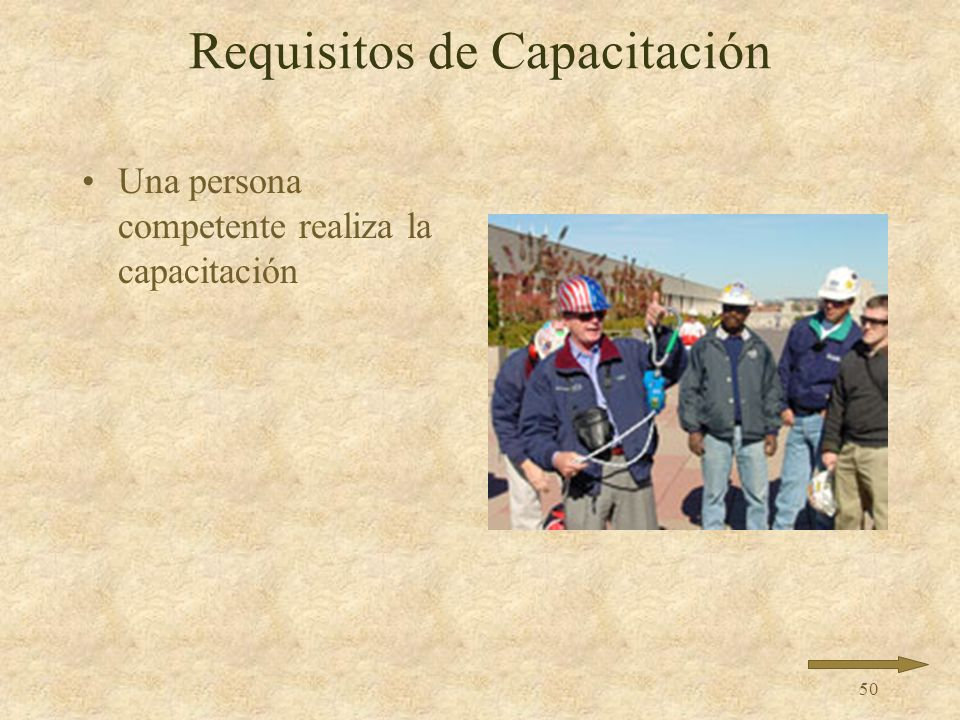 Requisitos de Capacitación